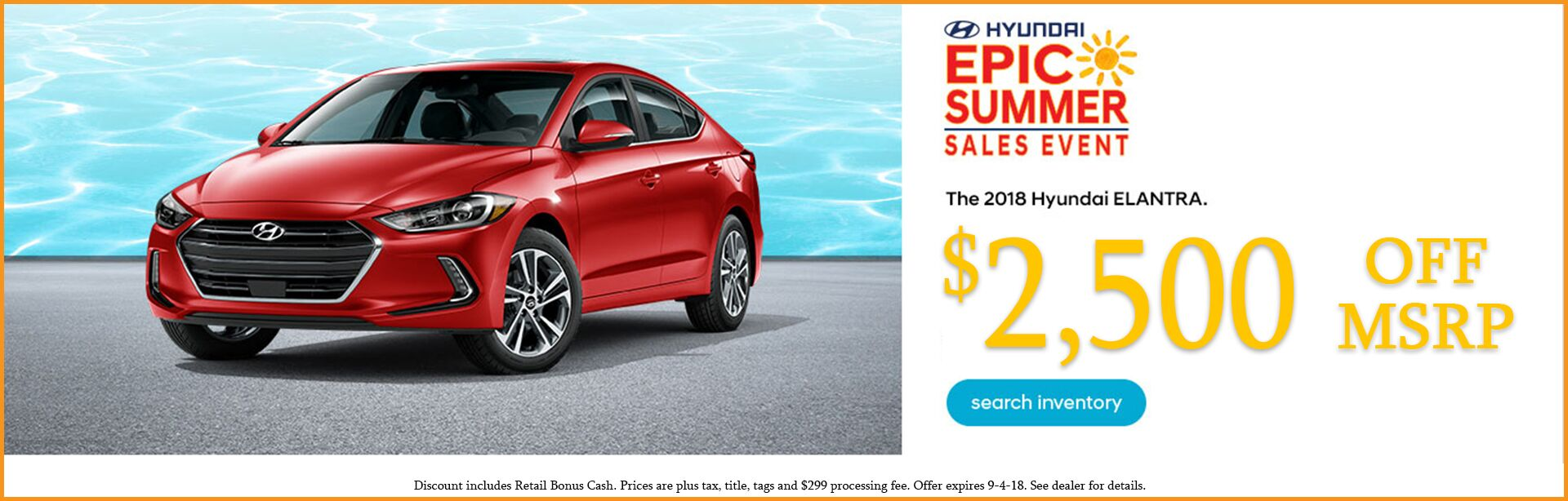 Elantra Summer Sales Event