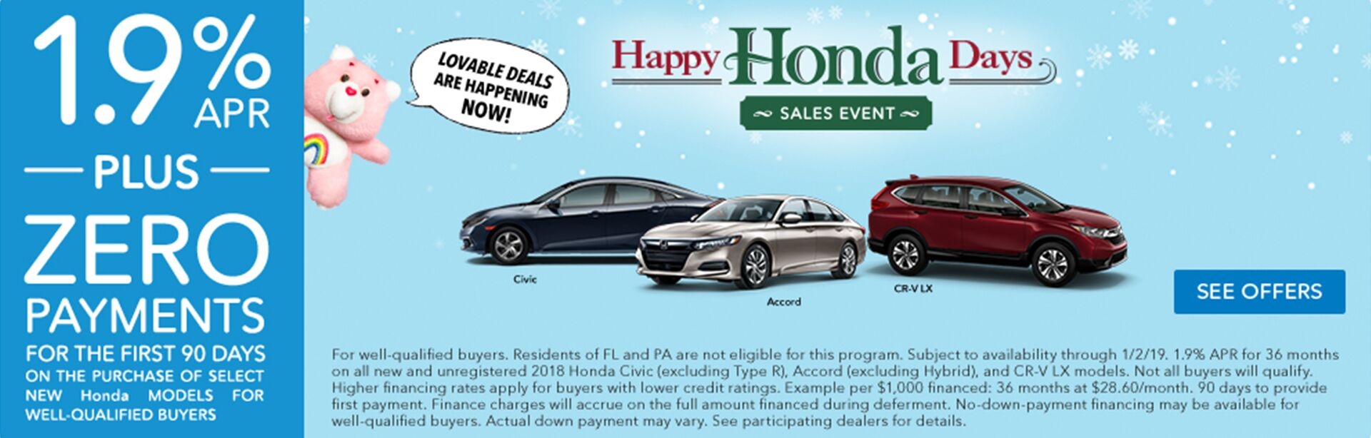 Happy Honda Days Special APR