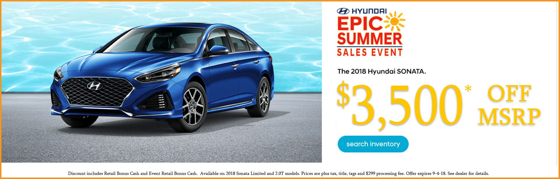 Sonata Summer Sales Event