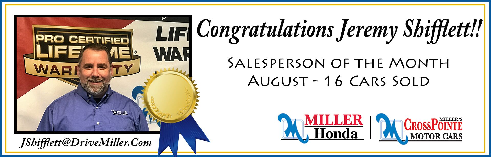 August Salesperson of the Month
