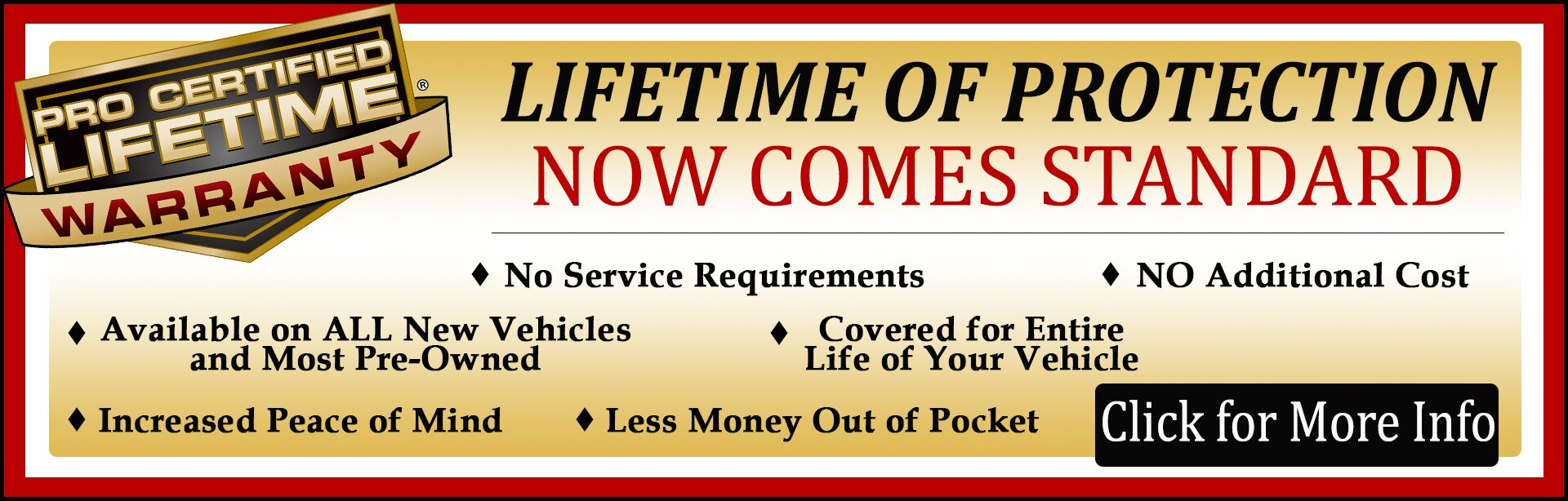 Lifetime Powertrain Warranty in Winchester, VA