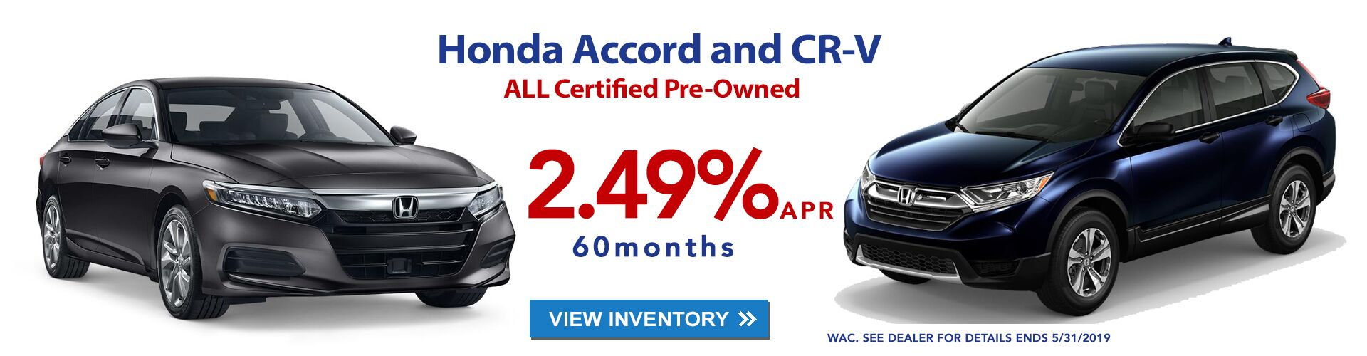 Used Accords and CR-Vs