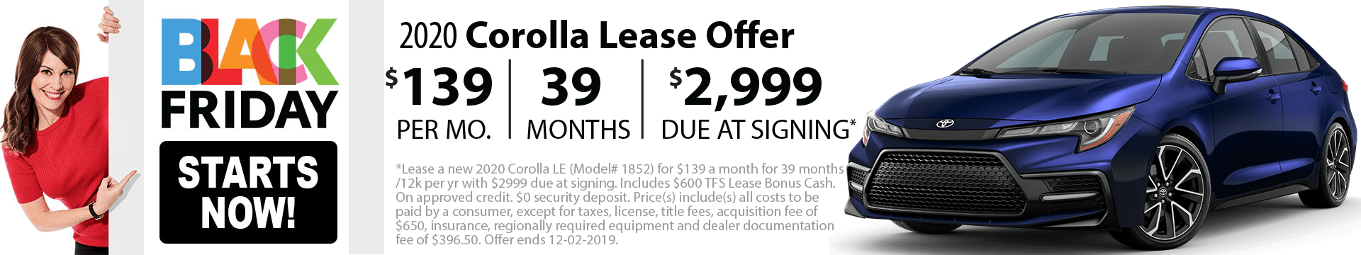 2020 Corolla Special Lease Offer