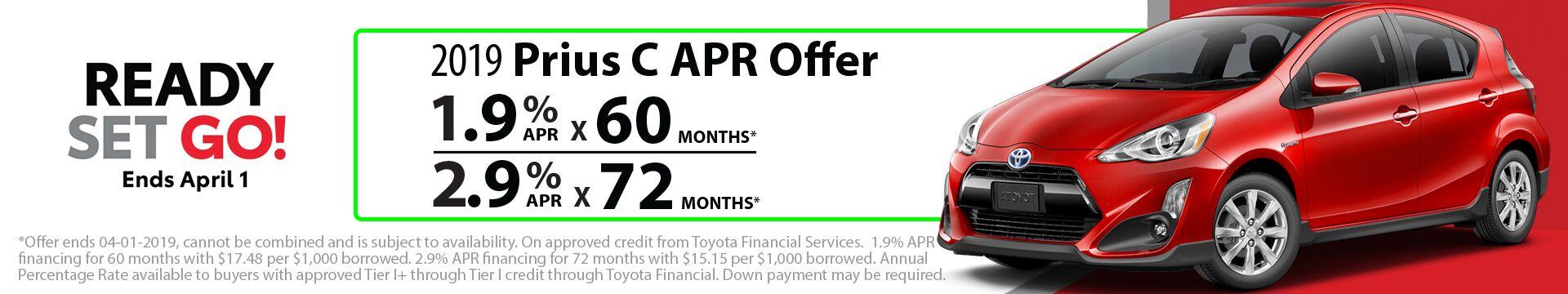 2019 Prius C APR