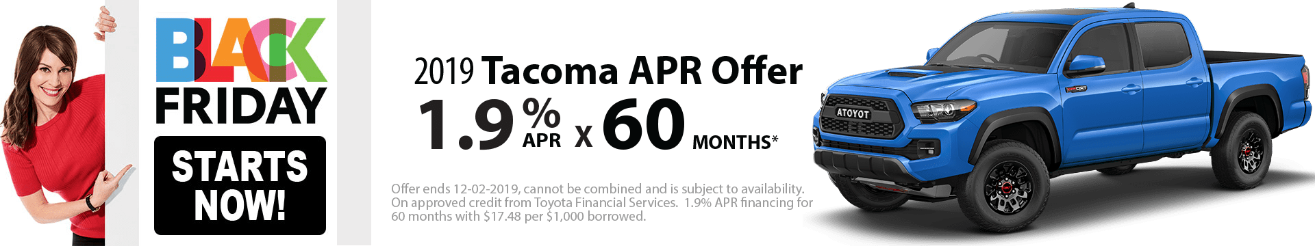 2019 Tacoma Special Finance Offer