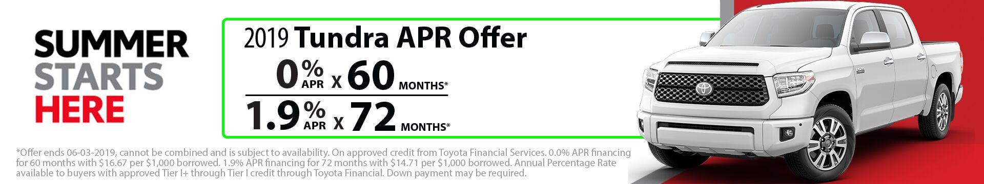 2019 Tundra APR Offer