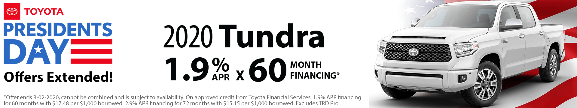 2020 Tundra Special Finance Offer