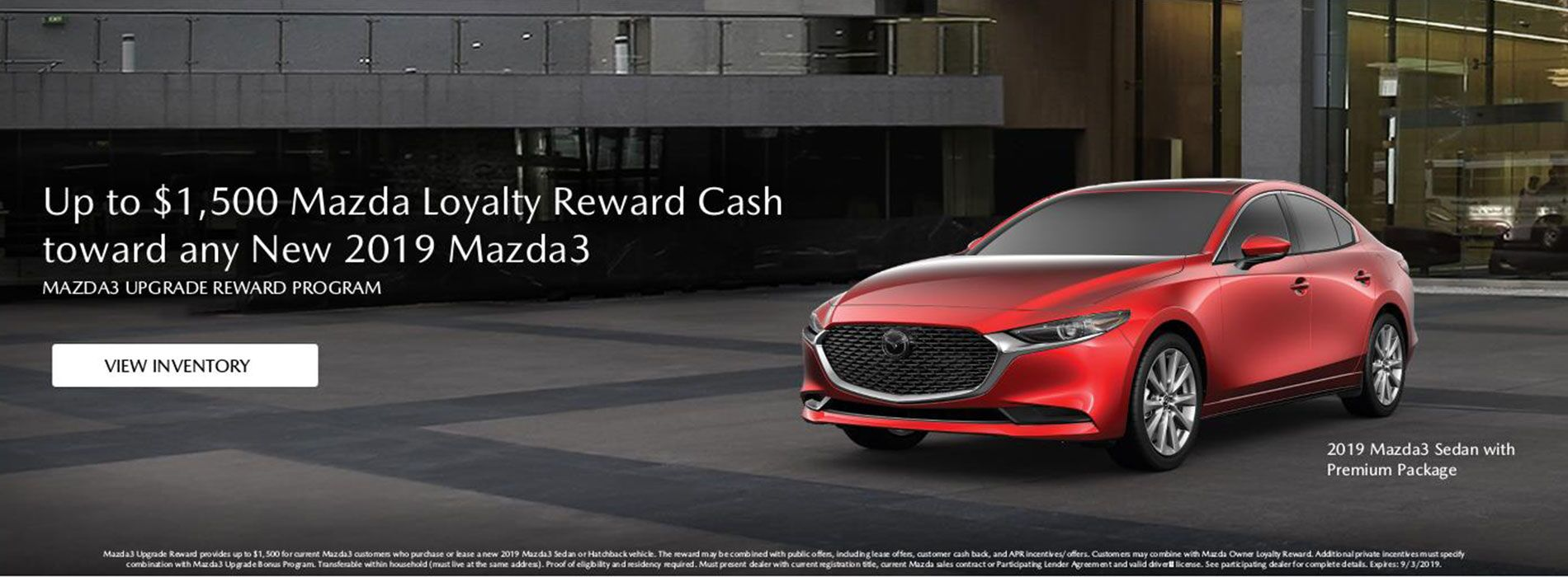 Mazda3 Loyalty Cash