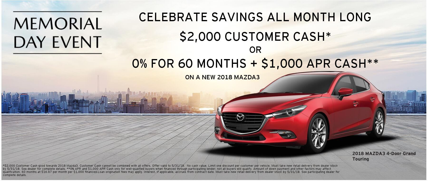 Mazda Memorial Day Savings