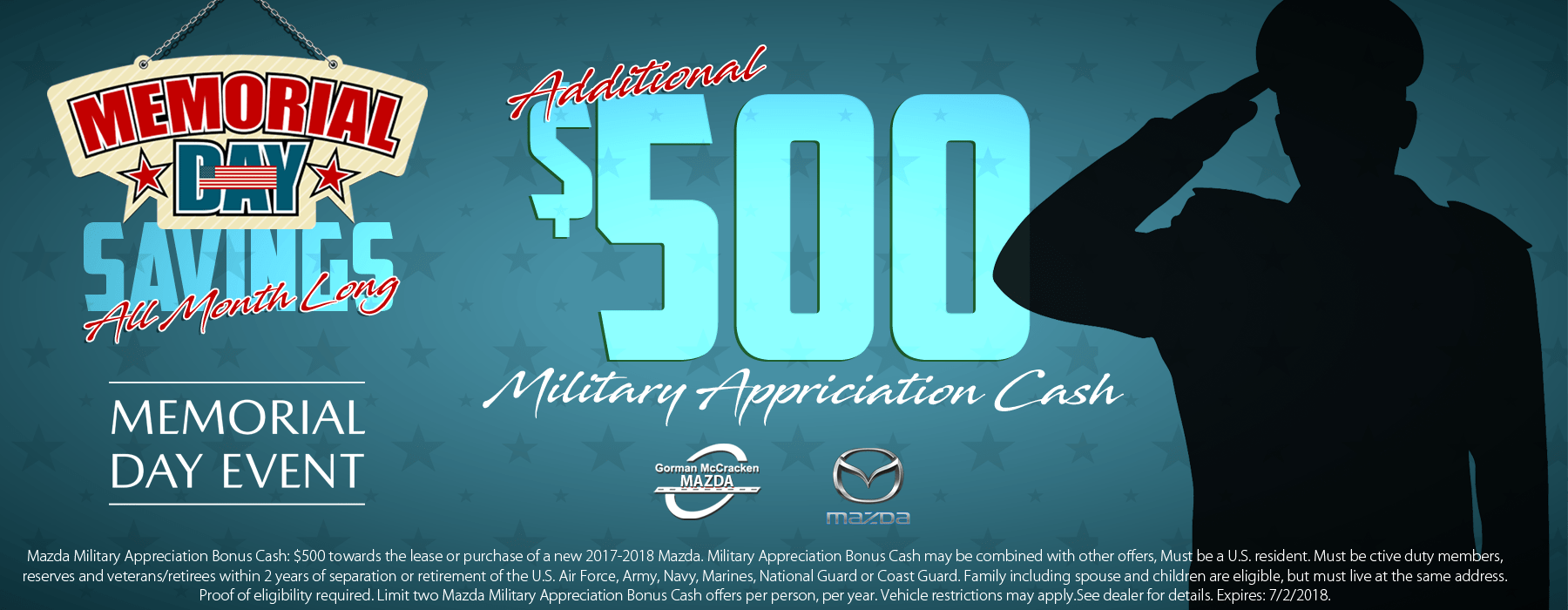 Mazda Military Discount Savings