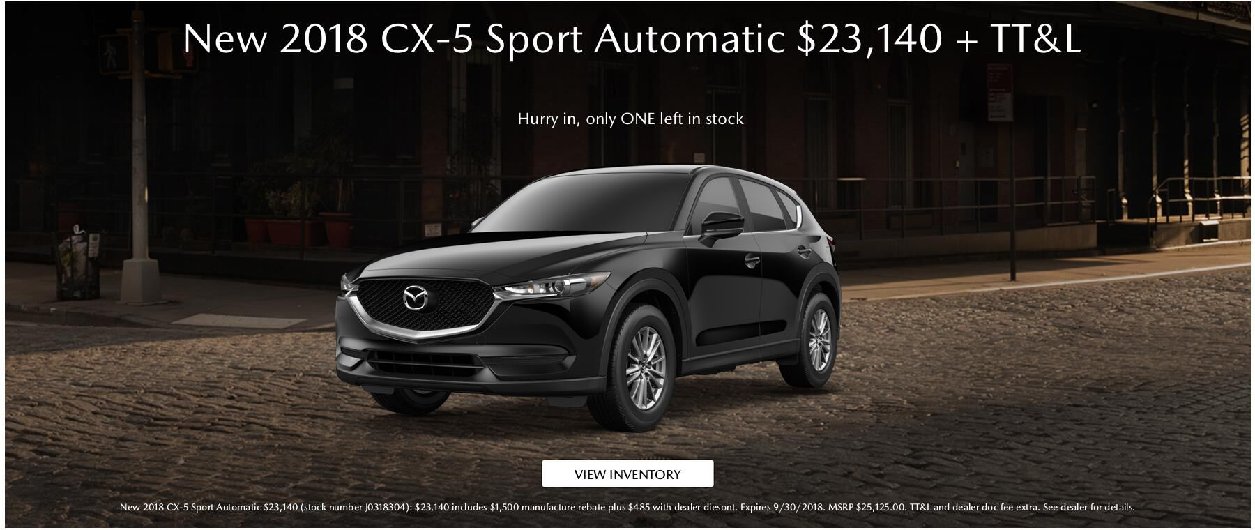 New 2018 Mazda CX-5 Sport Automatic September Special