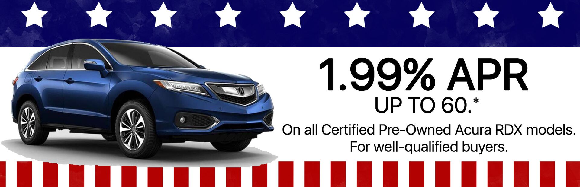 1.99% APR Incentives on Certified RDX at Marin Acura