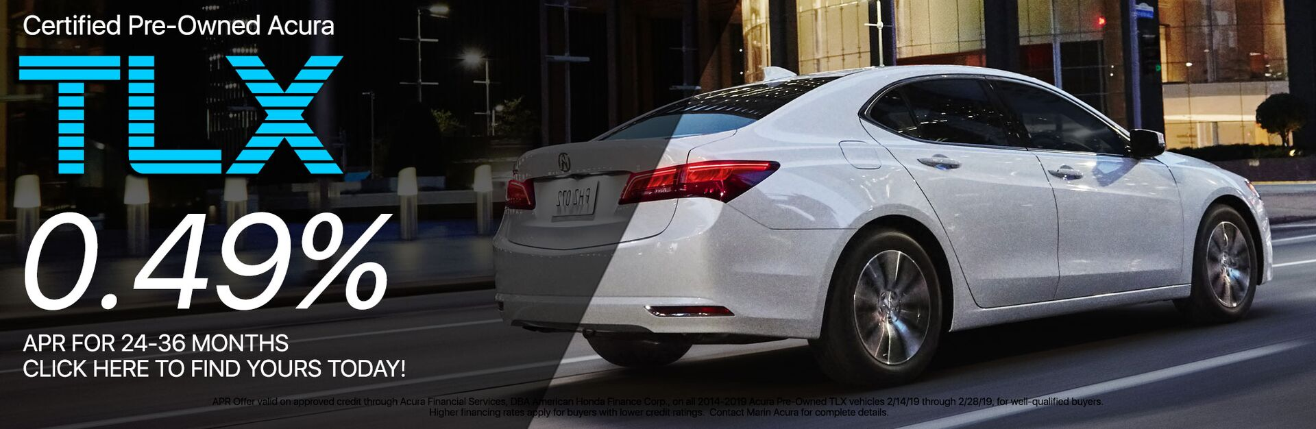 Acura Certified Pre-Owned TLX Special Offer