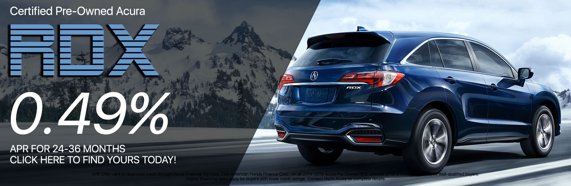 Certified Pre-Owned RDX Lease Special