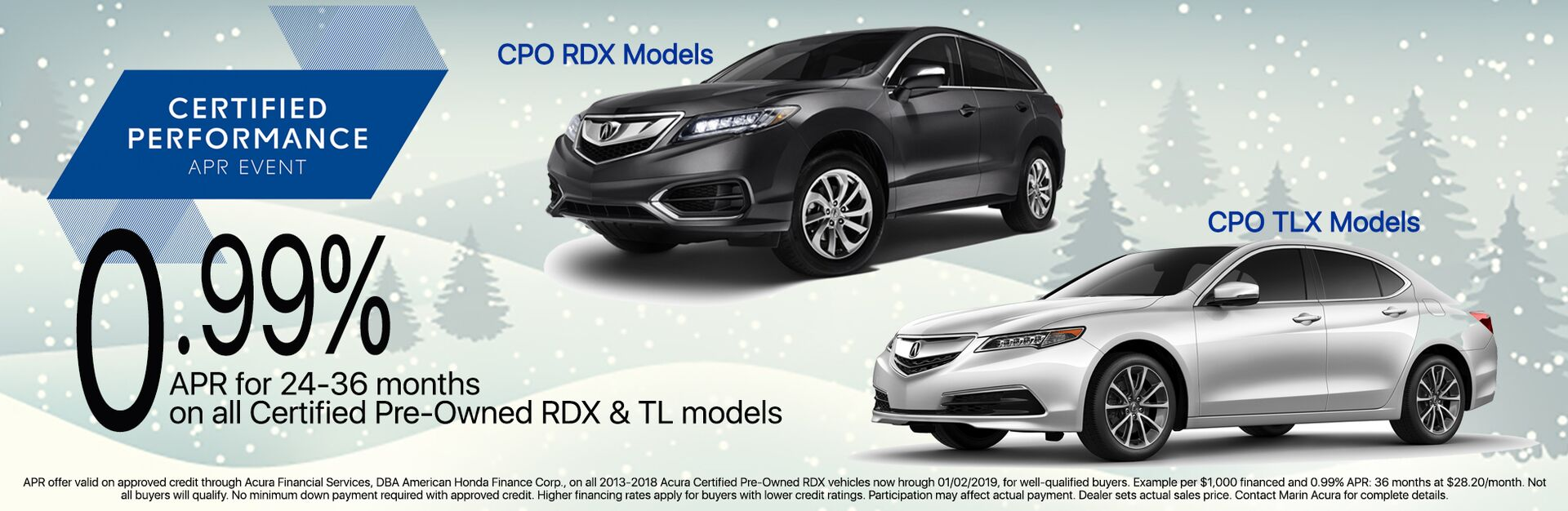 Certified Pre-Owned RDX | TLX | APR Special