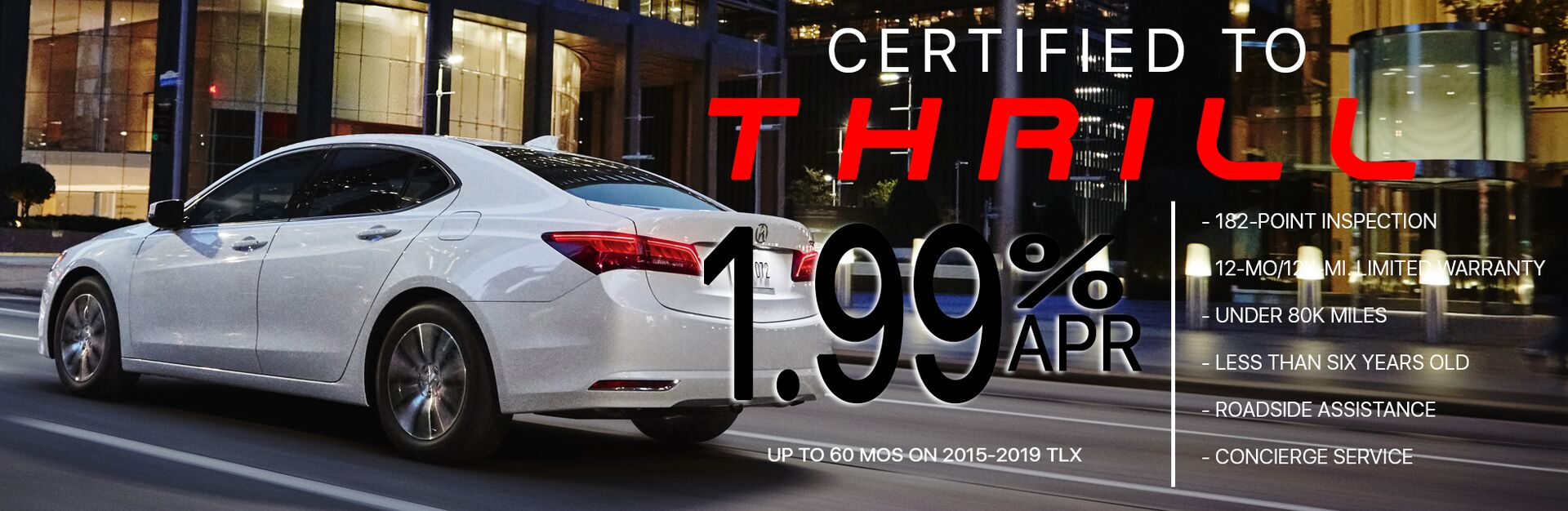 Certified TLX Finance Special Offer