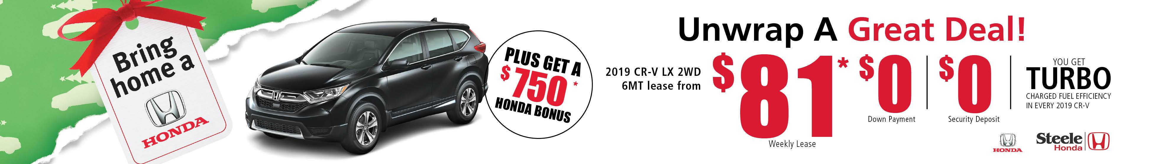 Bring Home A Honda 2019 - CR-V