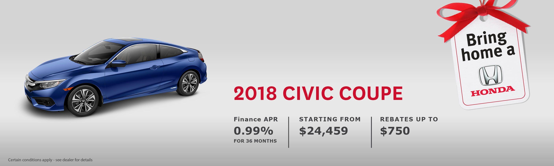 2018 Honda Civic Coupe LX CVT w/Honda Sensing