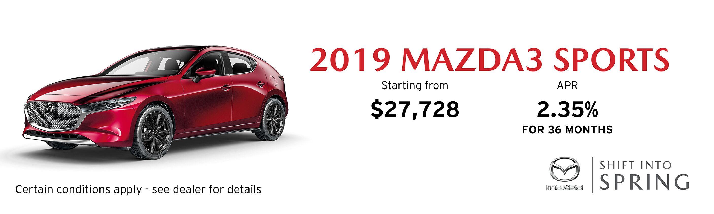 2019 Mazda Mazda3 Sport GX Manual FWD