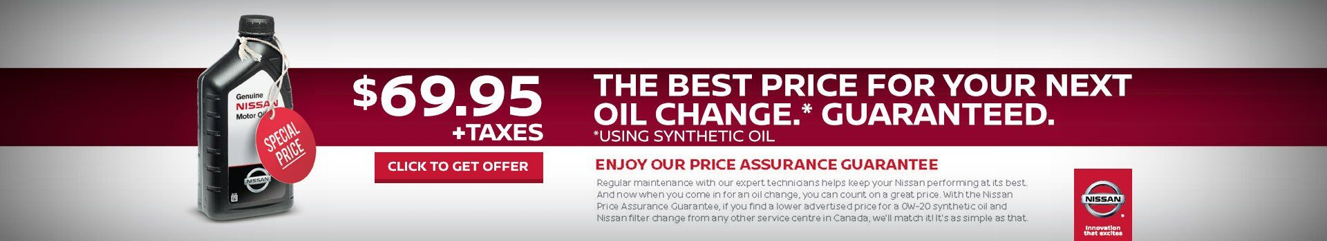 $69.95 Synthetic Oil and Filter Change