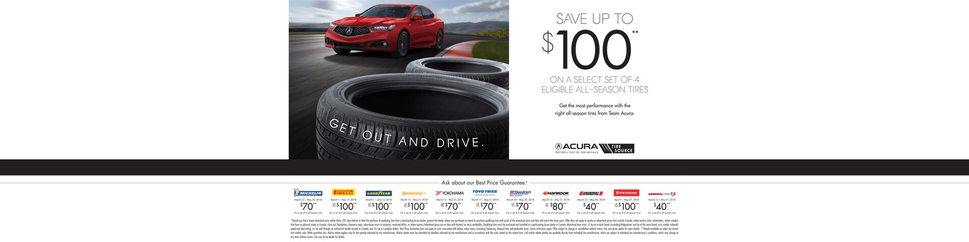Acura Spring Tires Rebates