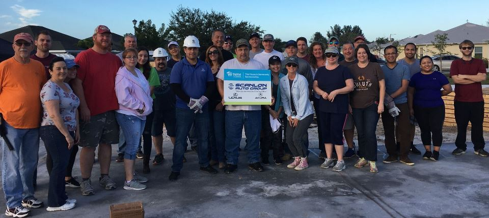 Scanlon Auto Group 2019 Habitat Build Photo Group