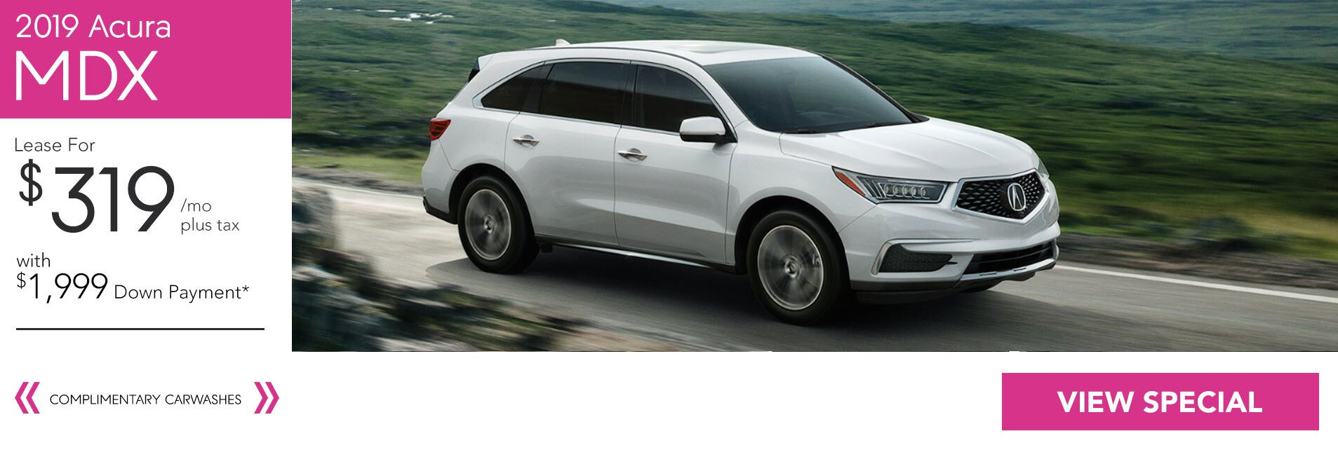 2019 Acura MDX for $319/36 Mo. with $1,999 Down