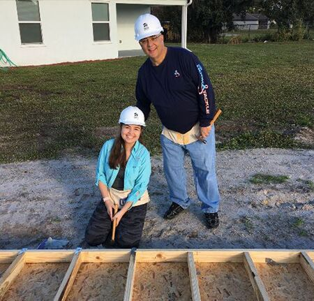 Scanlon Auto Group 2019 Habitat Build Photo Chris and Daughter