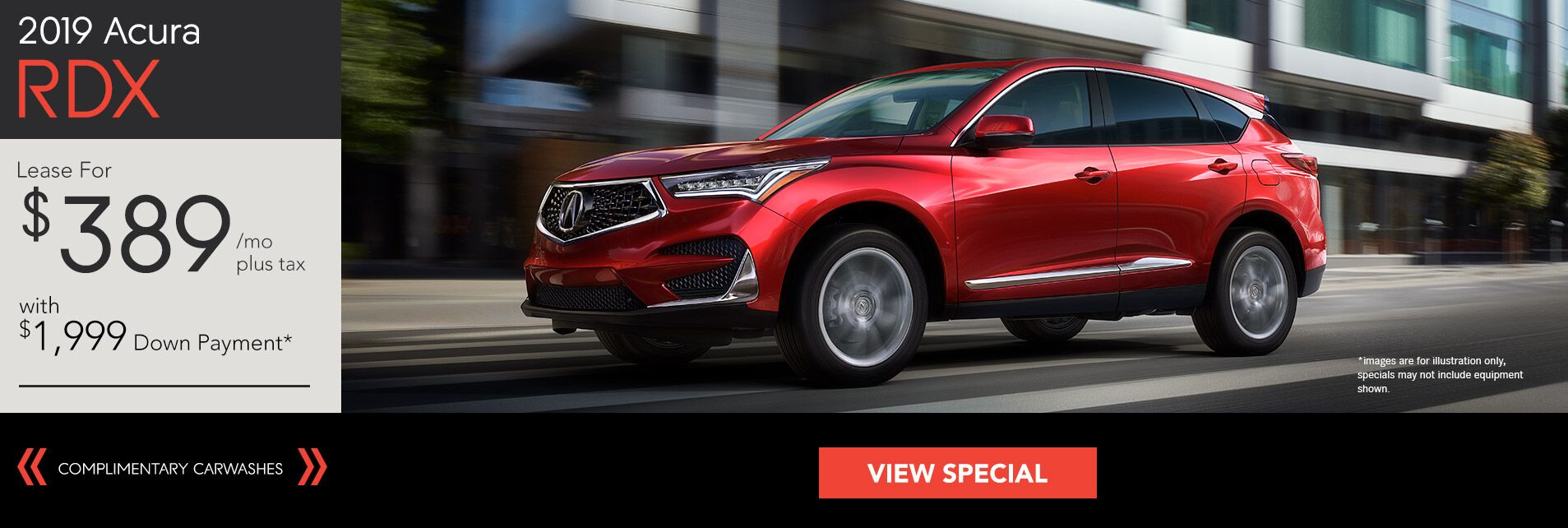 2019 Acura RDX for $389/36Mo. with $1,999 Down