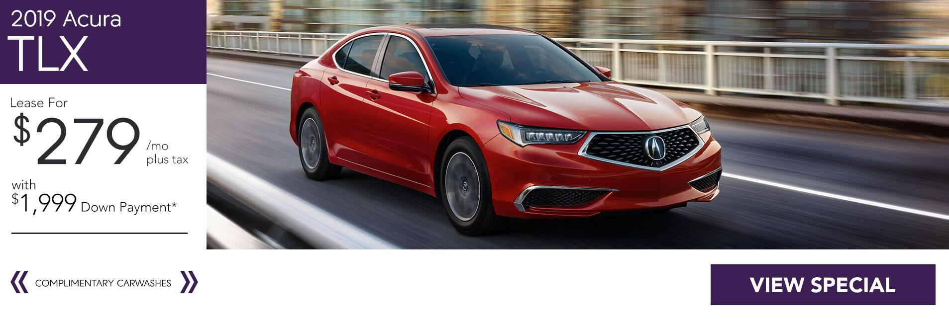 Lease a 2018 Acura TLX Tech for $279/36Mo. with $1,999 Down