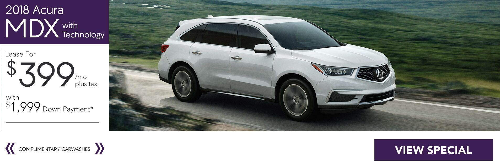 2018 Acura MDX for $399/36 Mo. with $1,999 Down