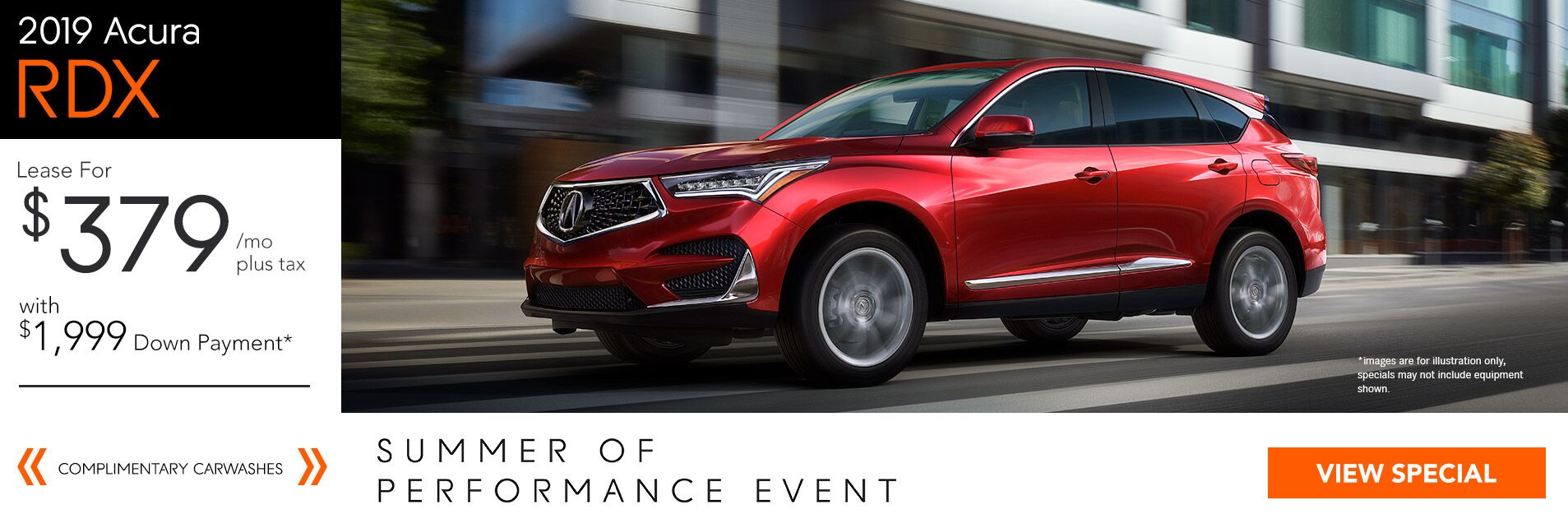 2019 Acura RDX for $379/36Mo. with $1,999 Down