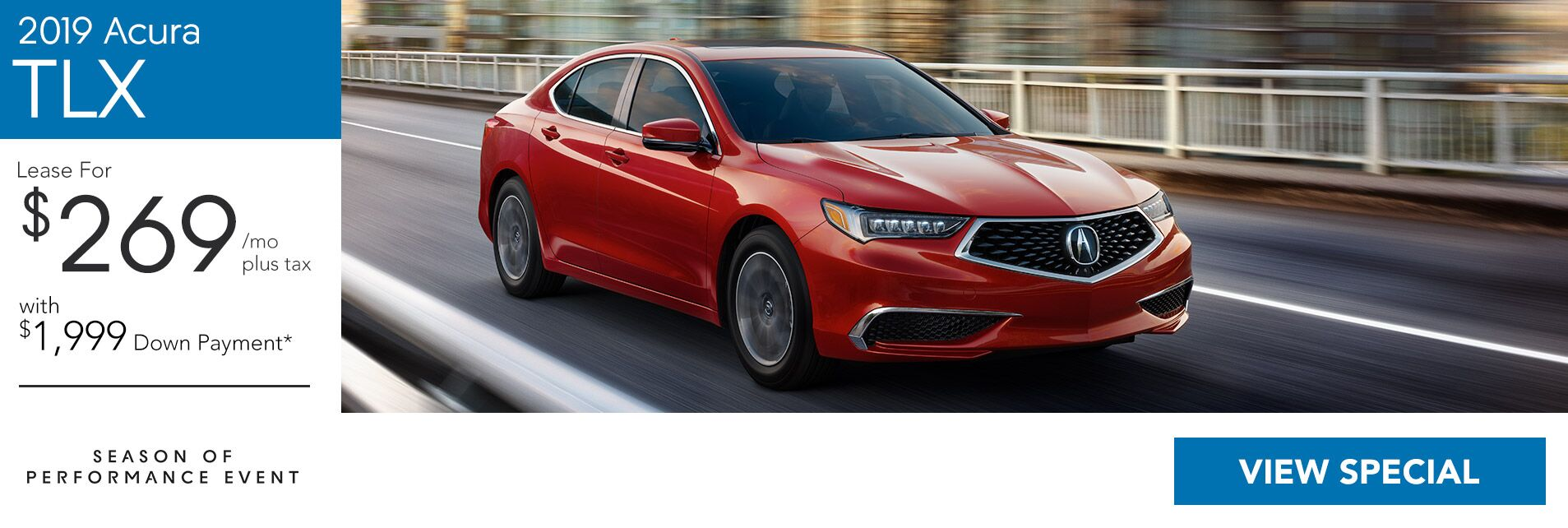Lease a 2019 Acura TLX Tech for $269/36Mo. with $1,999 Down