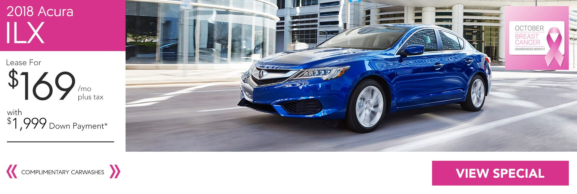 Lease a 2018 Acura ILX for $169/36Mo. with $1,999 Down