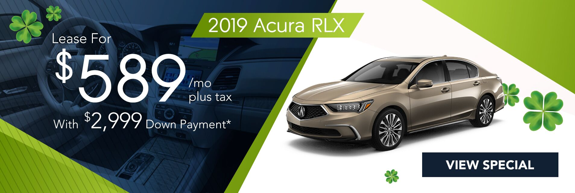 Lease a 2019 Acura RLX Tech for $588/36Mo. with $2,999 Down