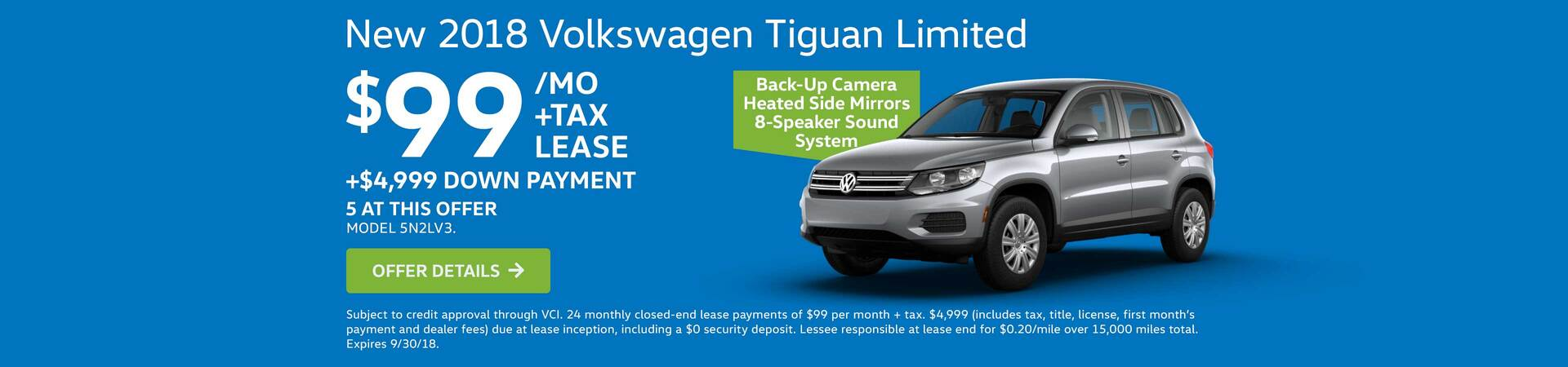 2018 Tiguan Limited Lease