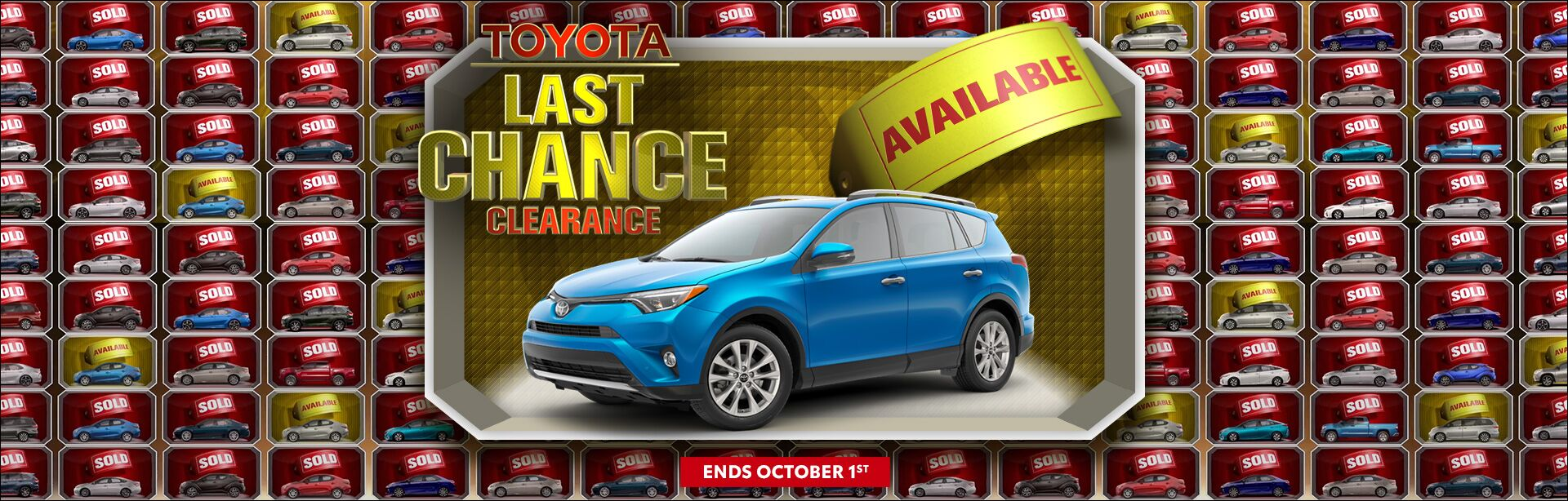 Toyota Last Chance Clearance