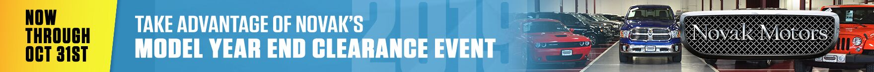 Model Year End Clearance Event