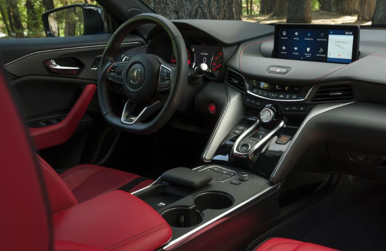 A photo of the driver's cockpit in the 2021 Acura TLX.