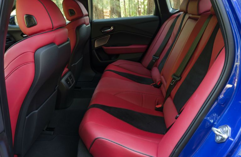 A photo of the rear seats in the 2021 Acura TLX.