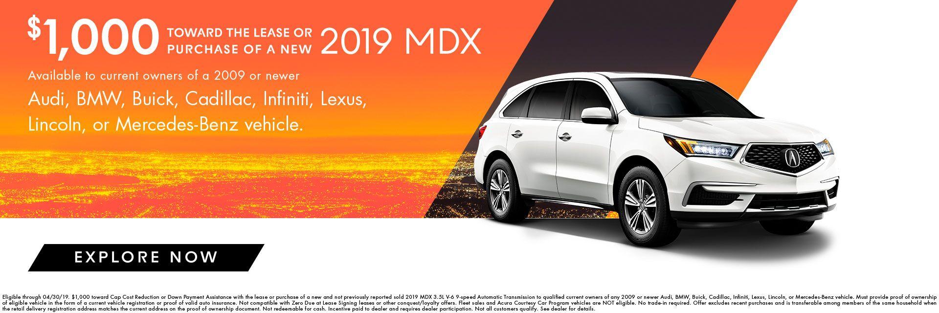 2019 Mdx Incentives At Acura Of Modesto