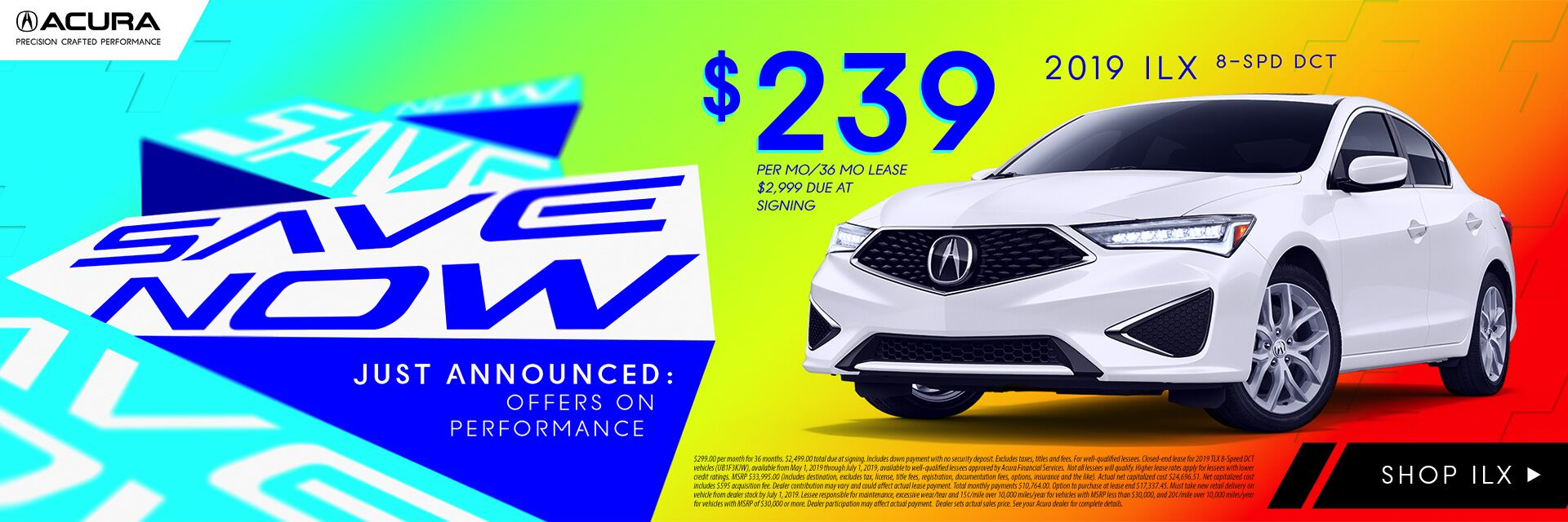 2019 ILX Incentives at Acura of Modesto