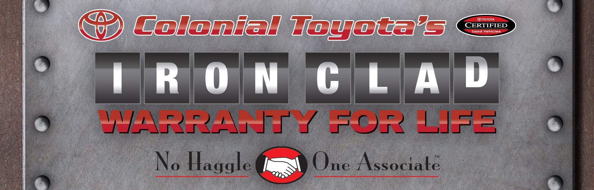Colonial Toyota Iron Clad Warranty