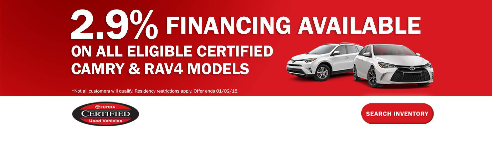2.9% Financing Available