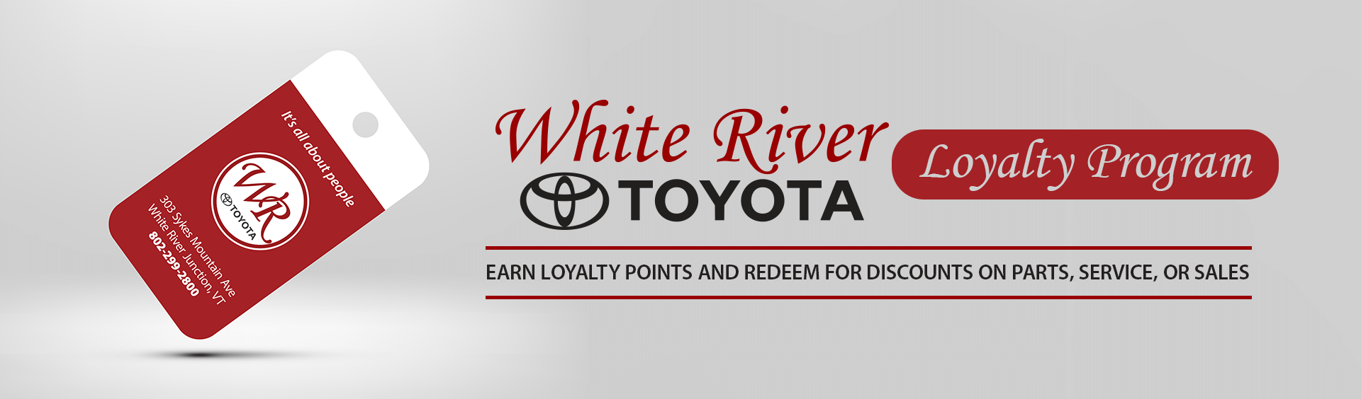 White River Toyota Loyalty Rewards Program