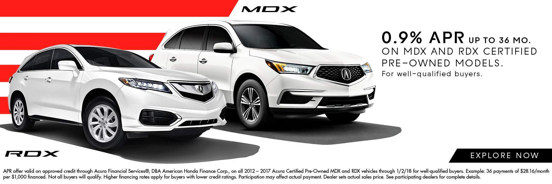 Certified Pre-Owned MDX and RDX