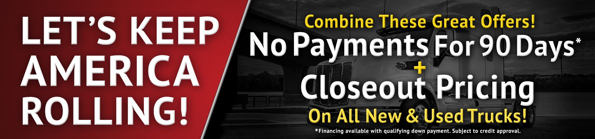90 Days No Payments-Closeout All Trucks