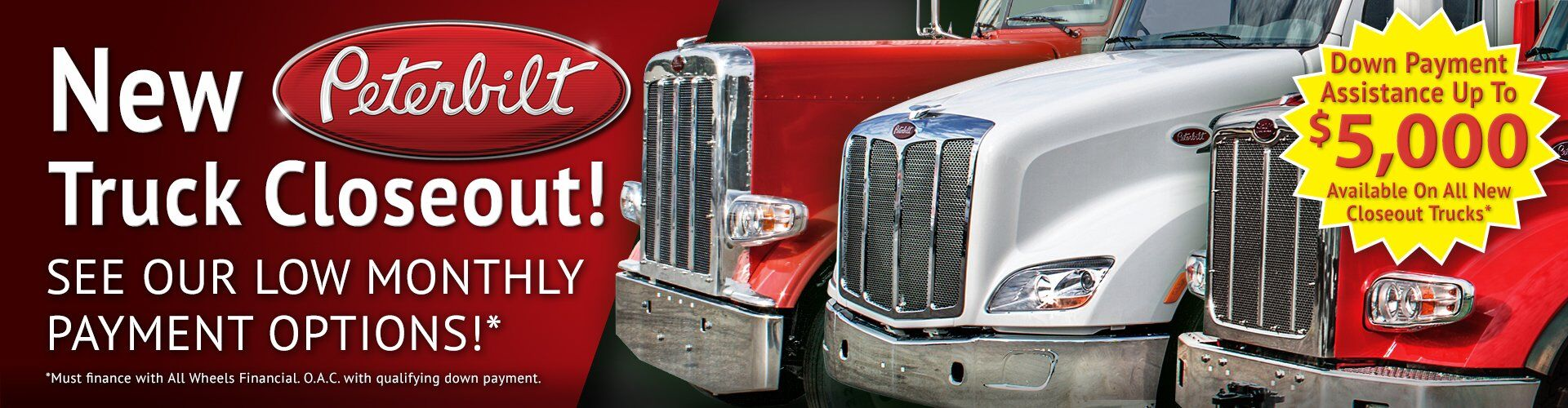 New Peterbilt Truck Closeout