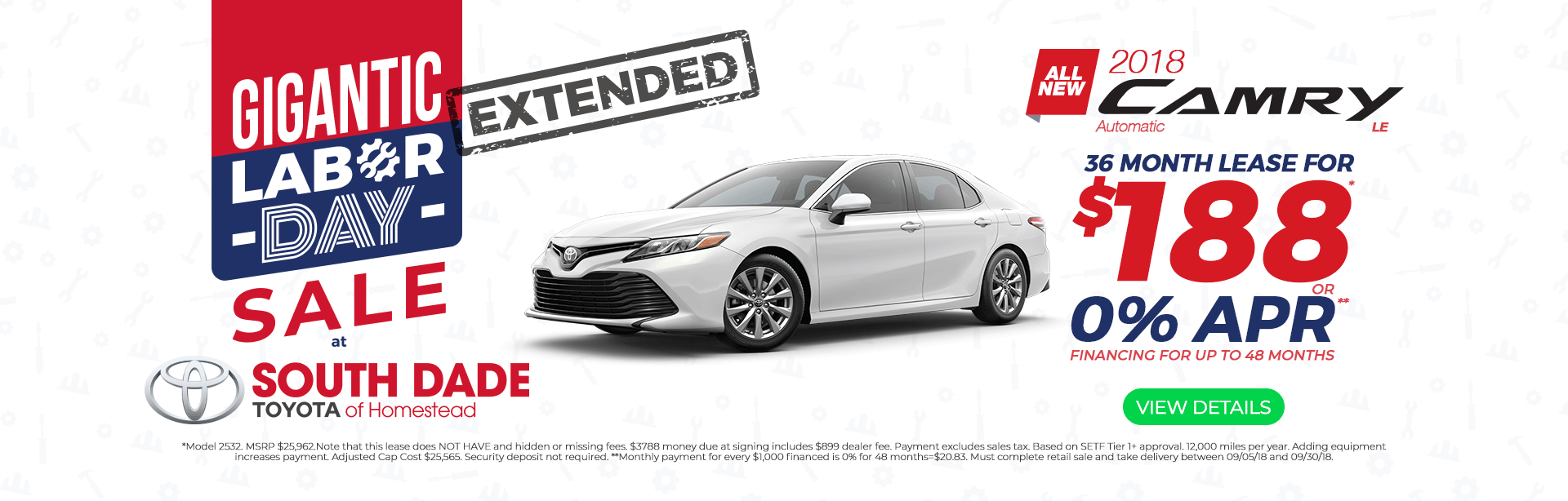 2018 Camry Aug Offer