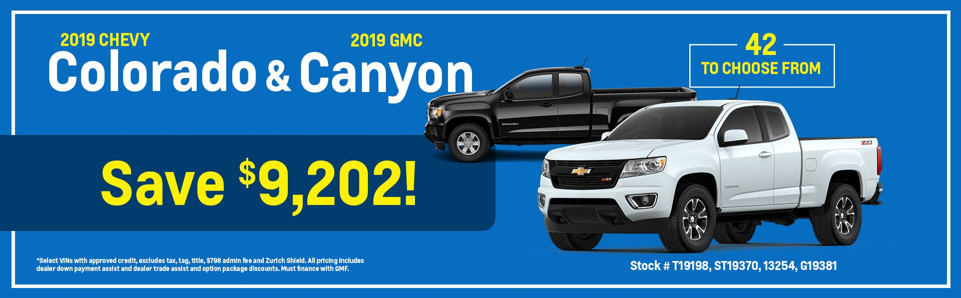 2019 Chevy Colorado and 2019 GMC Canyon